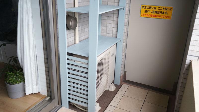 エアコン室外機カバーをDIYで作製。第一弾が完成。